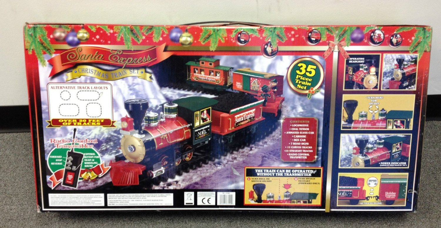 Awesome Holiday Santa Express Christmas Train Set