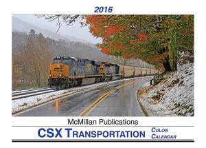 CSX 2016 Calendar