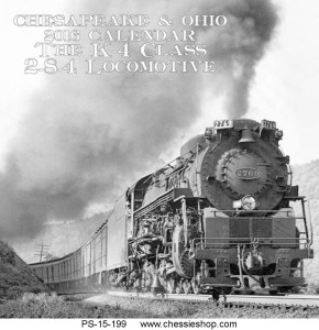 Chesapeake & Ohio 2016 Calendar
